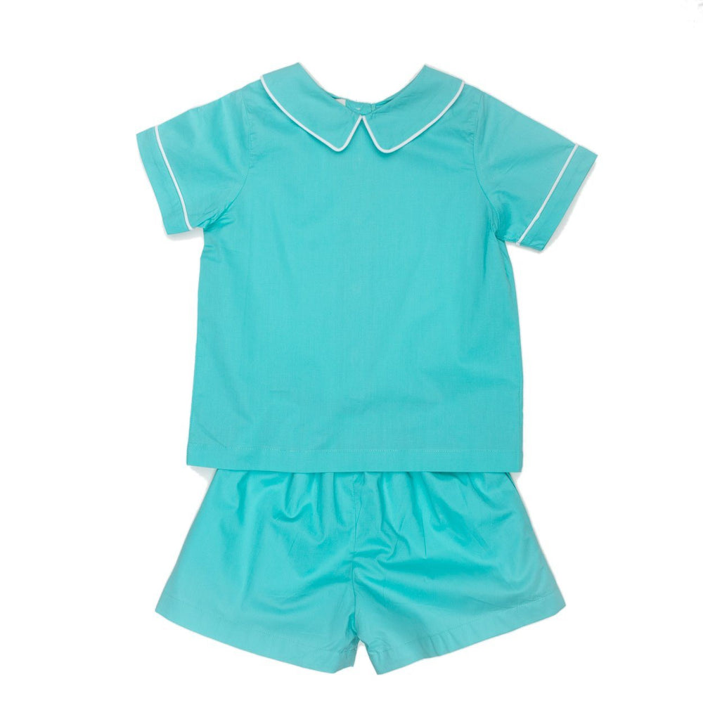 Ross Aqua Blue Short Set