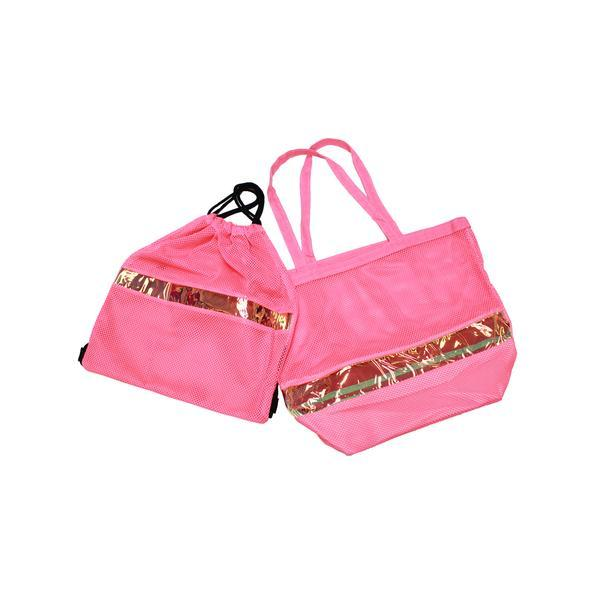Pink and Gold Beach Tote