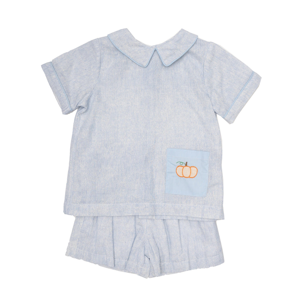 Nolan Blue Pumpkin Short Set