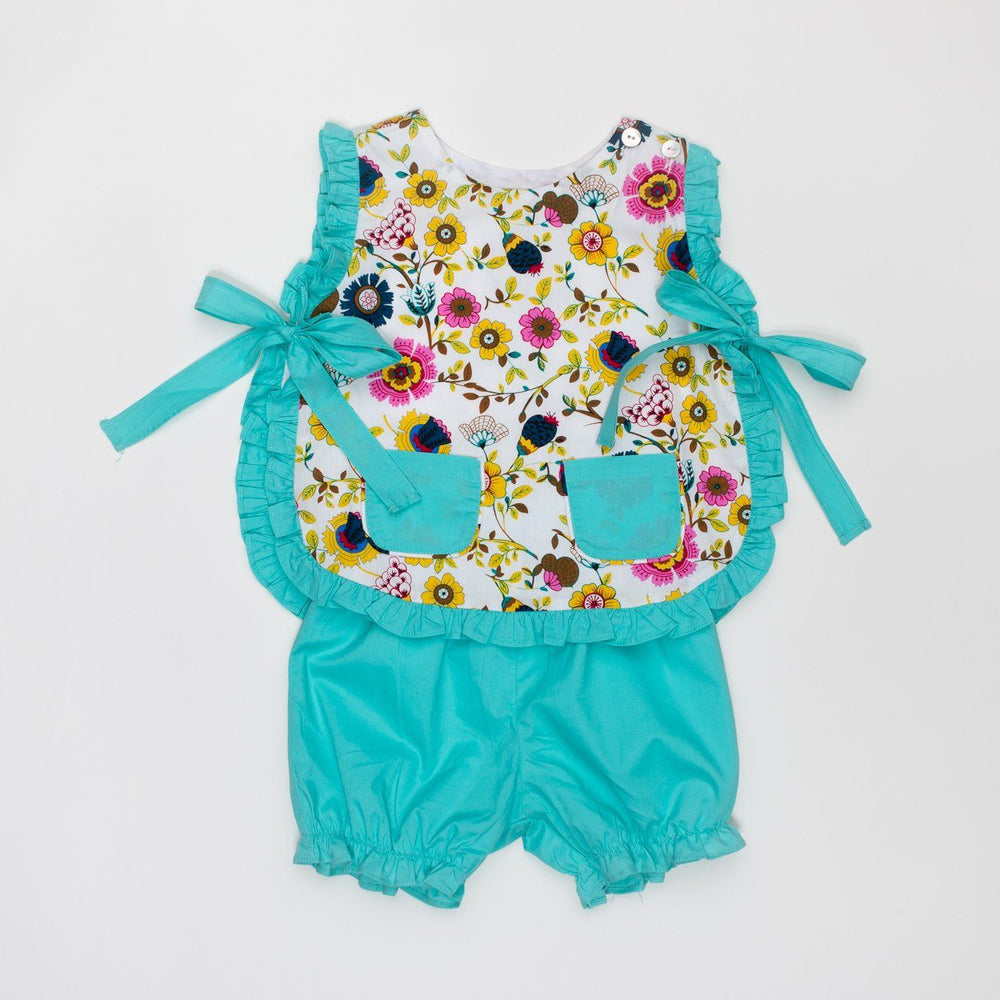 Lily Bright Floral Bloomer Set