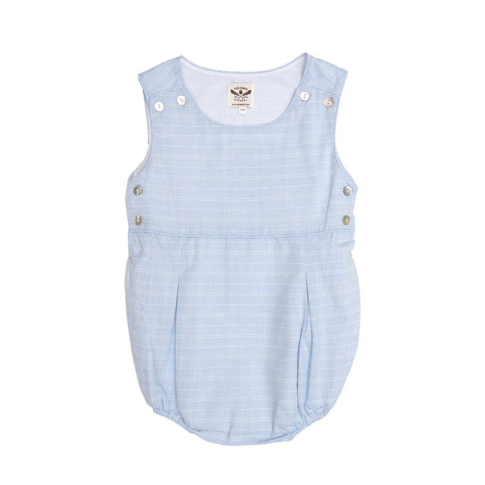 David Lt Blue Romper