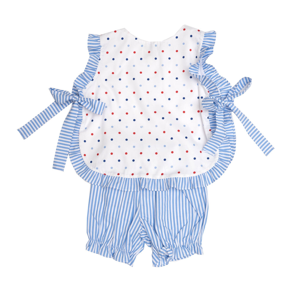 Lily White and Blue Bloomer Set
