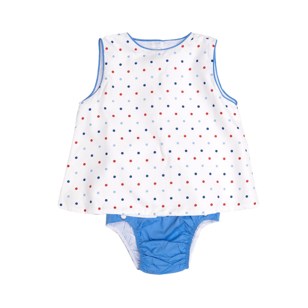 Rex White and Blue Bloomer Set