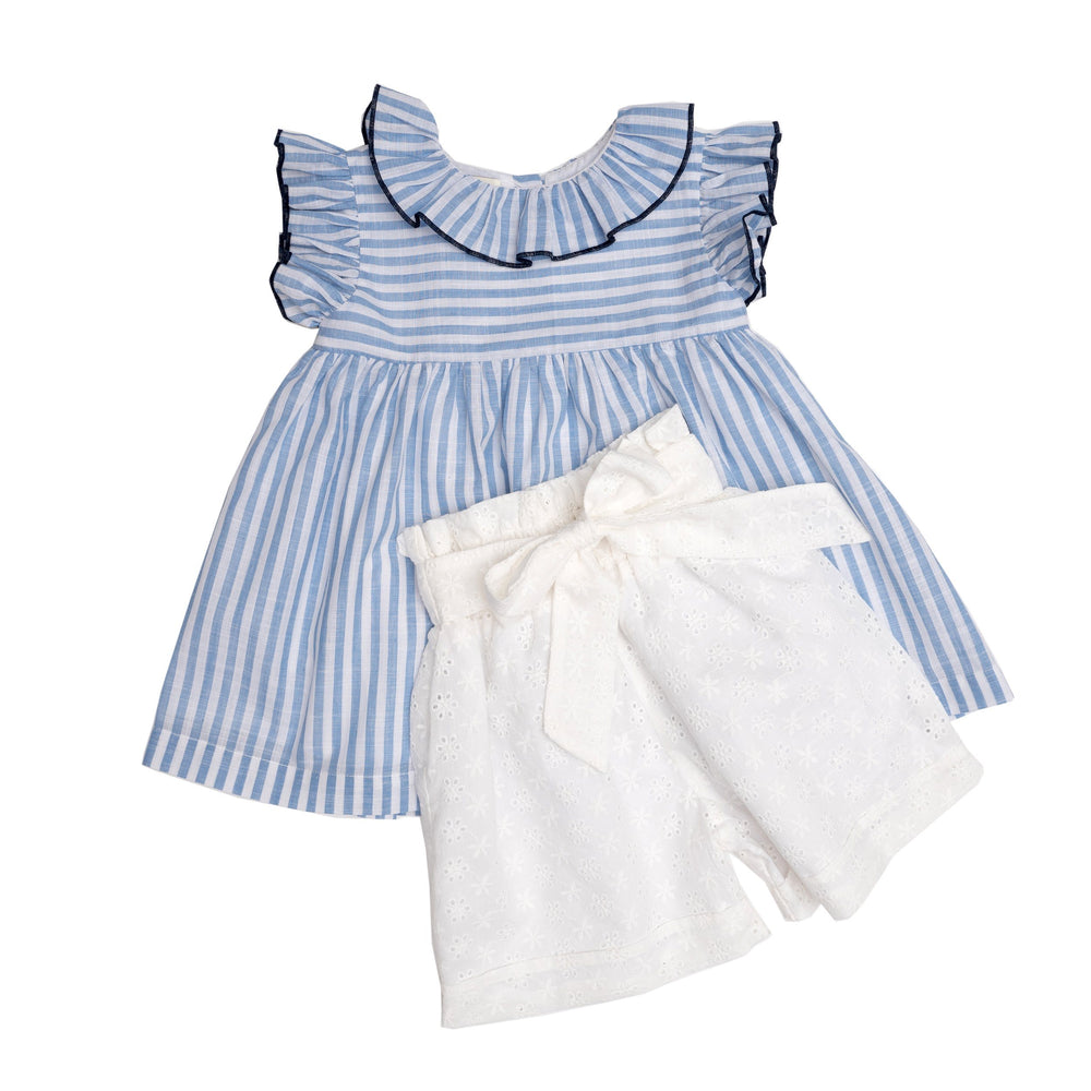 Lorelei Blue and White Short Set