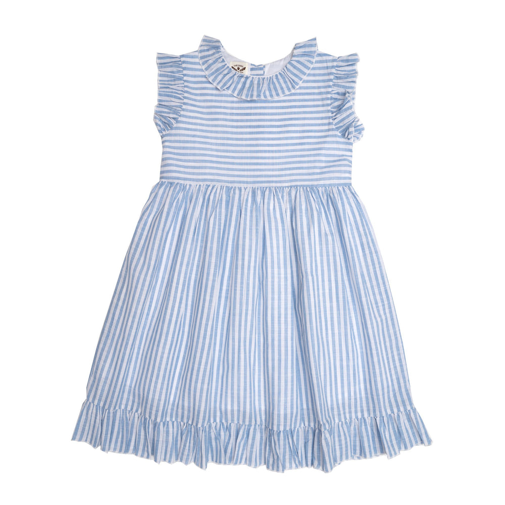 Isabella Blue Striped Dress