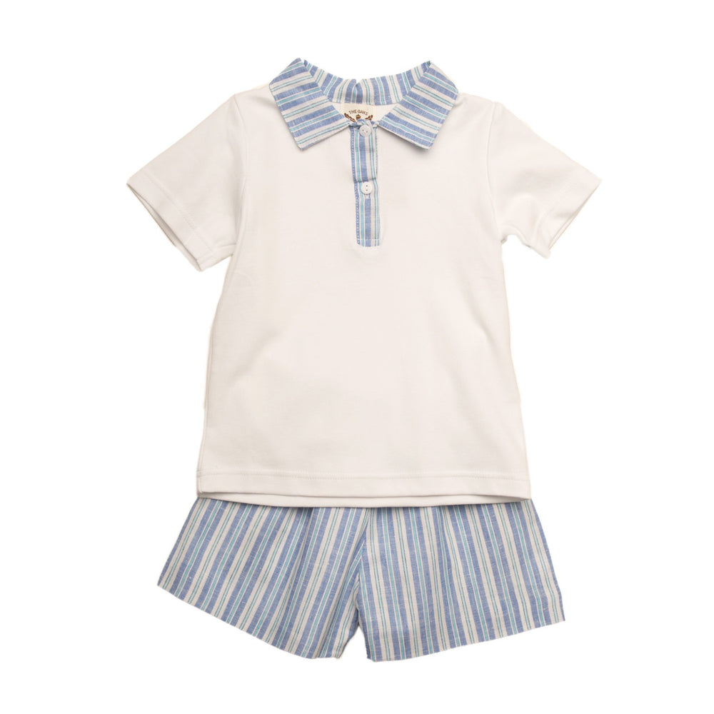 """Easton Blue Stripe Short Set"""