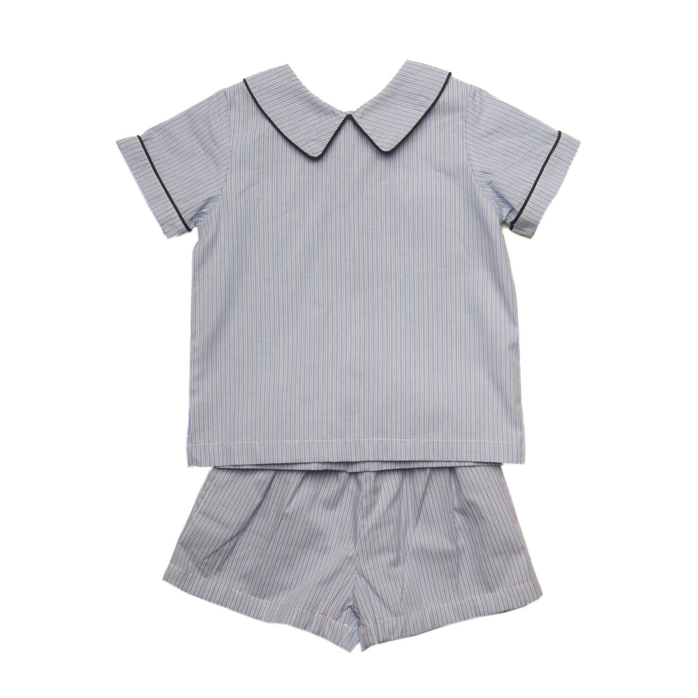 """Paxton Blue Short Set"""