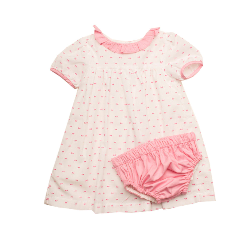 """Christie Pink Swiss Dot Bloomer Set"""