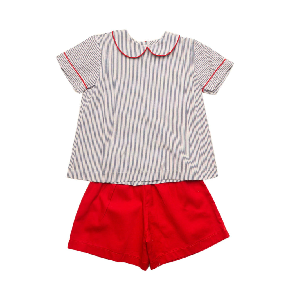 """Watson Navy and Red Short Set"""