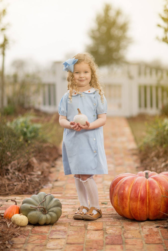 Beckie Blue Pumpkin Dress