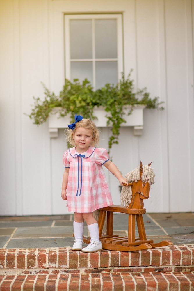 Fiona Pink Buffalo Check Dress