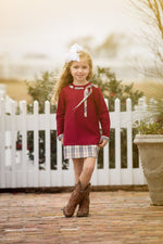 Lacee Tan Tartan Dress
