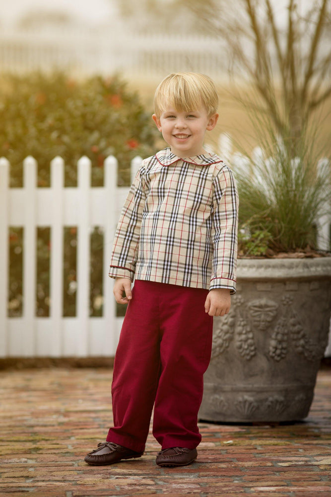 Jason Tan Tartan Pants Set