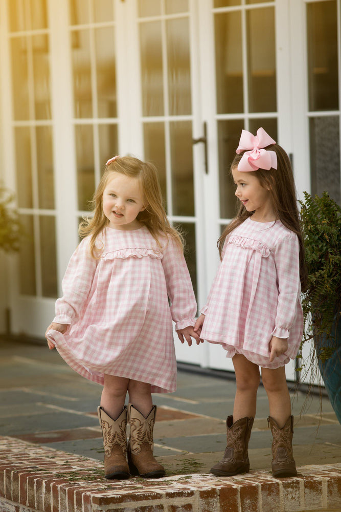 Ella Rose Pink Check Bloomer