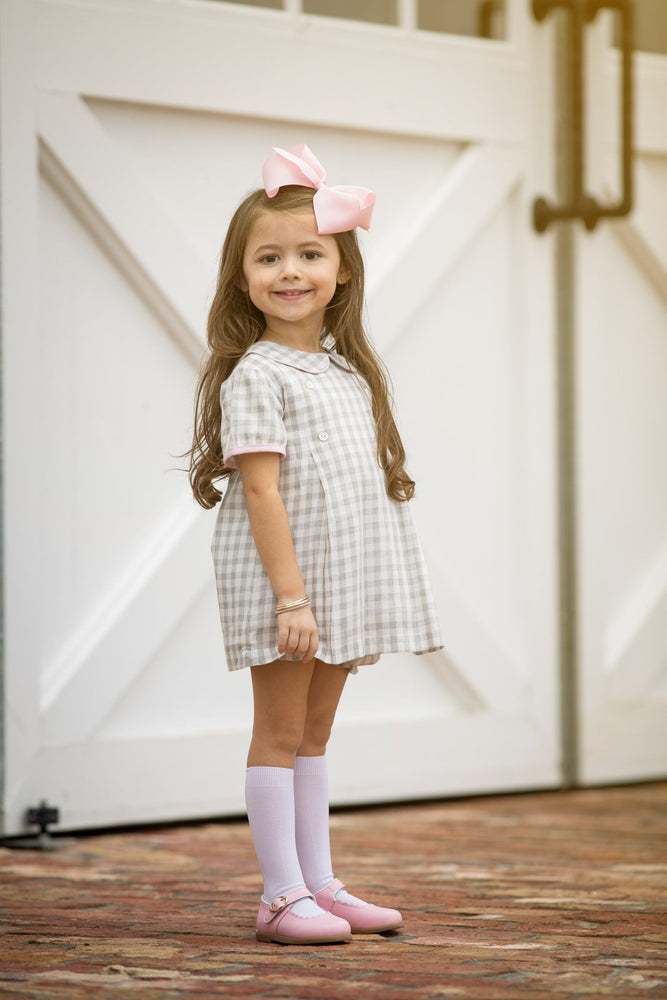 Peyton Soft Grey Check Bloomer