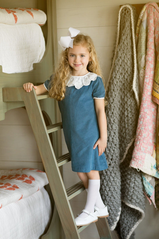 Elizabeth Blue Bow Dress