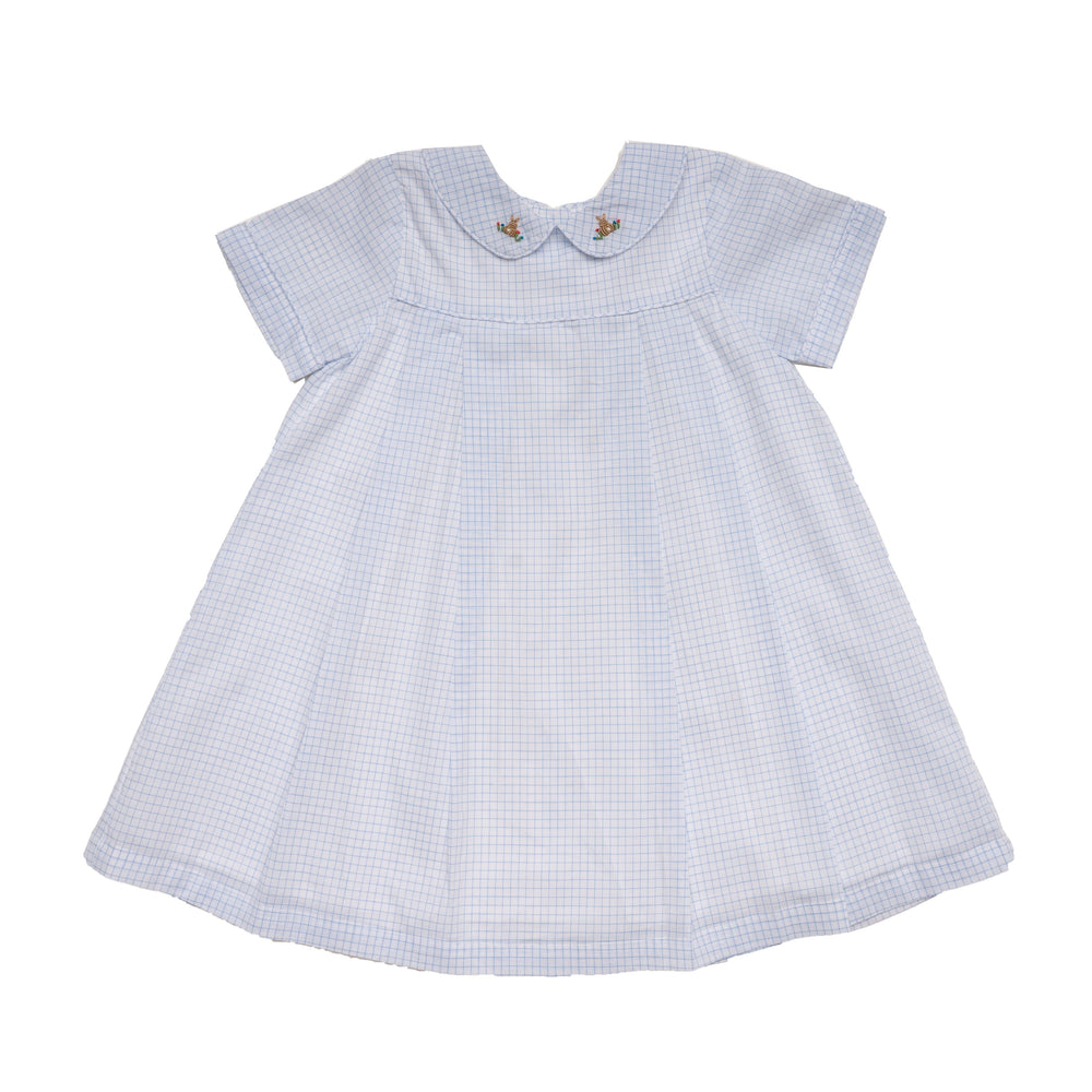 Luna Blue Windowpane Bunny Dress