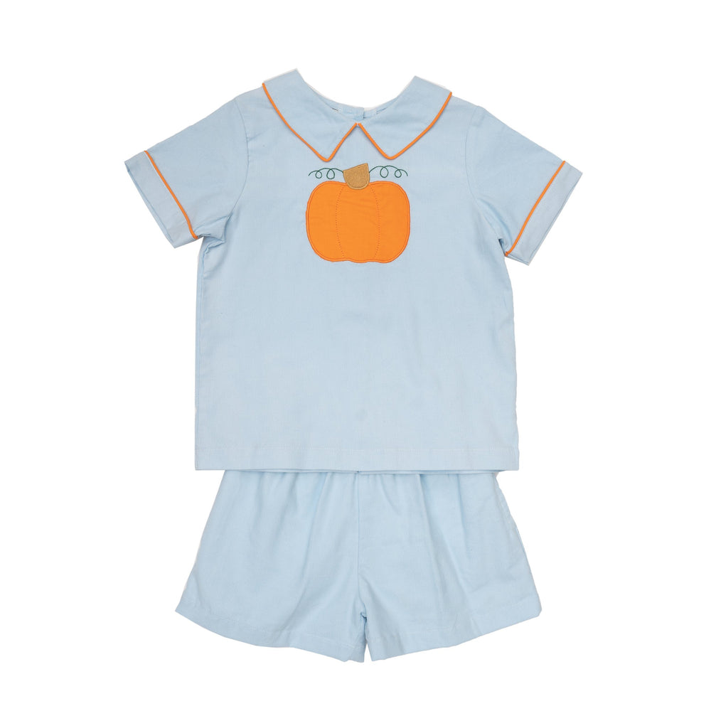 Pete Blue Pumpkin Short Set