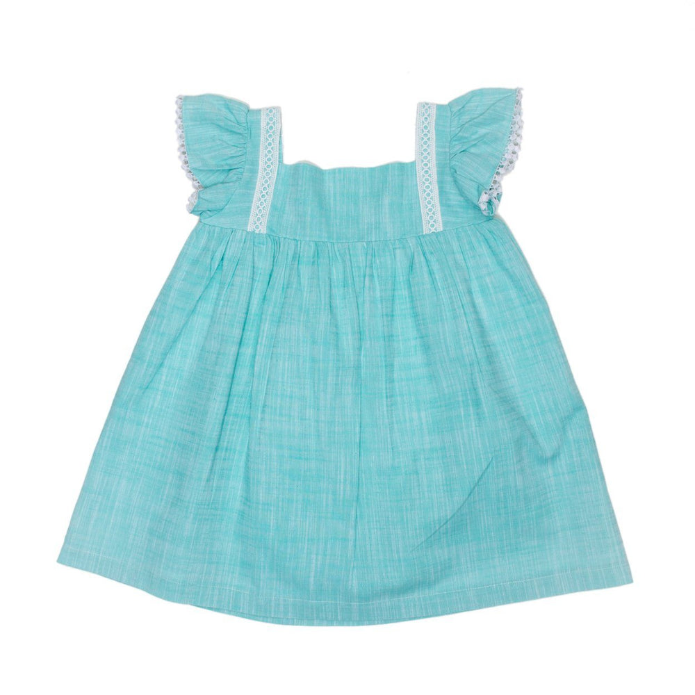 Phoebe Aqua Lace Dress