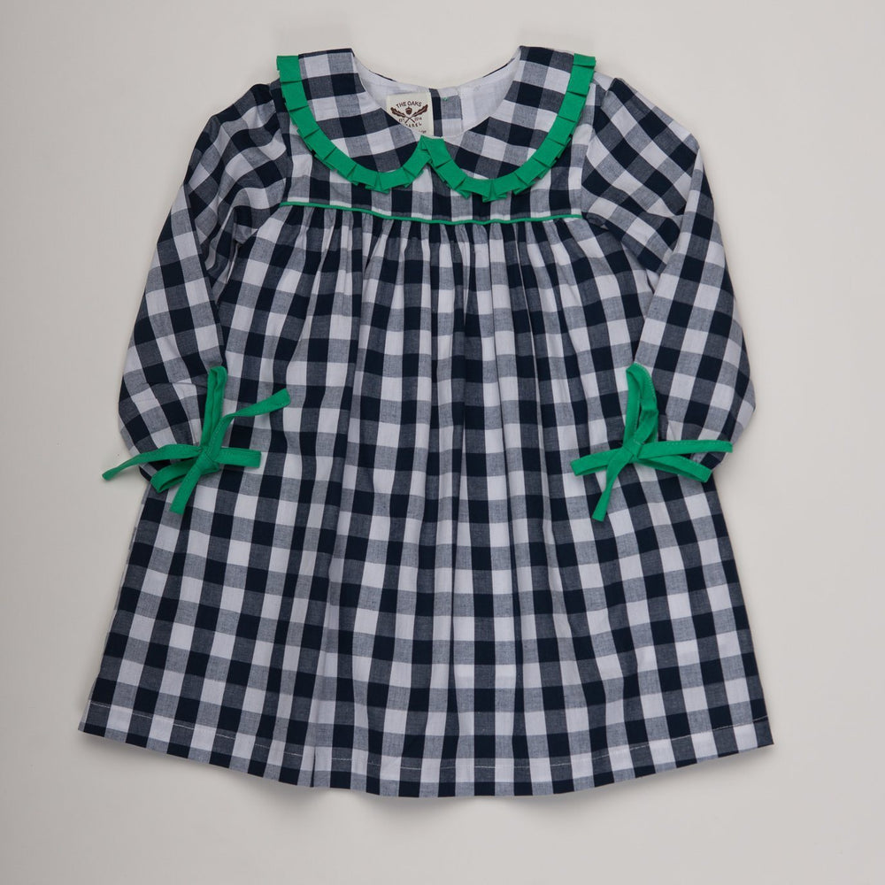 Priscilla Navy Buffalo Check Dress