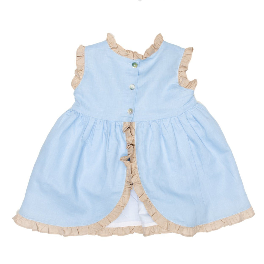 Reagan Blue and Tan Bloomer Set