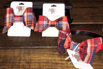 The Bow Next Door Red Plaid Custom Bows