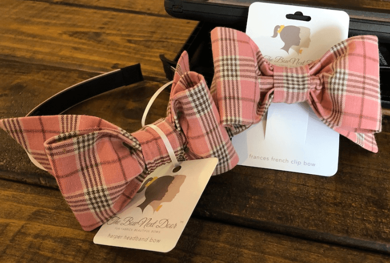 The Bow Next Door Rose Plaid Custom Bows