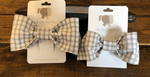 The Bow Next Door Grey Windowpane Custom Bows