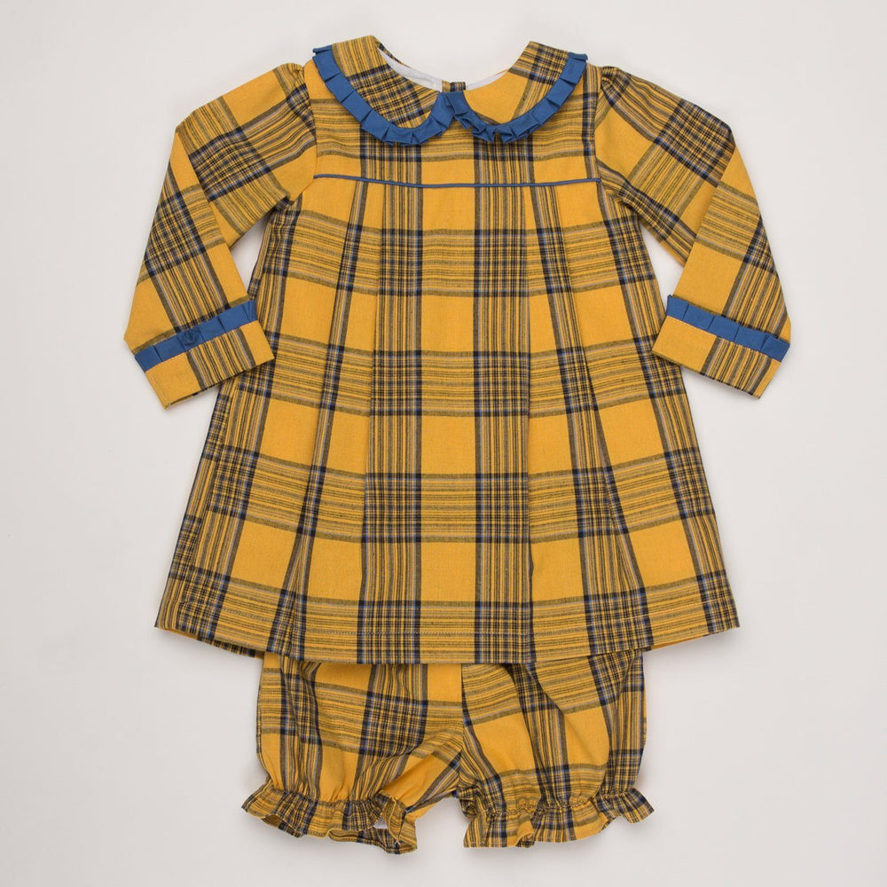 Shelby Mustard Plaid Bloomer