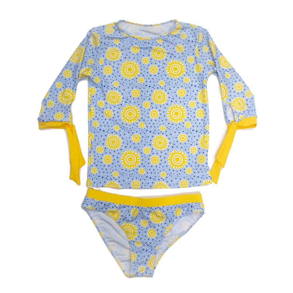 Sun 3/4 Rash Guard Mom Swimsuit