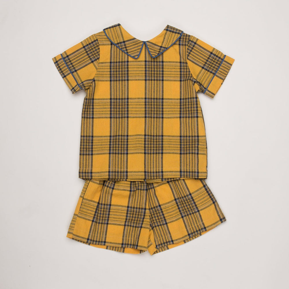 Weston Mustard Check Short Set