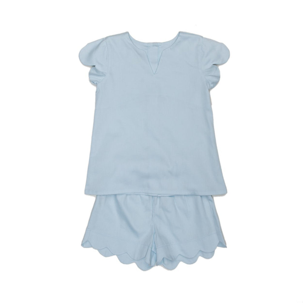 Lucille Mom Short Set Blue