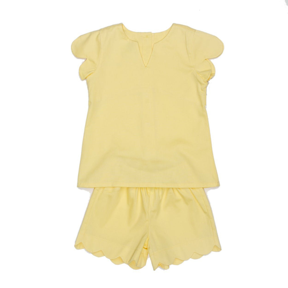 Zane Yellow Short Set