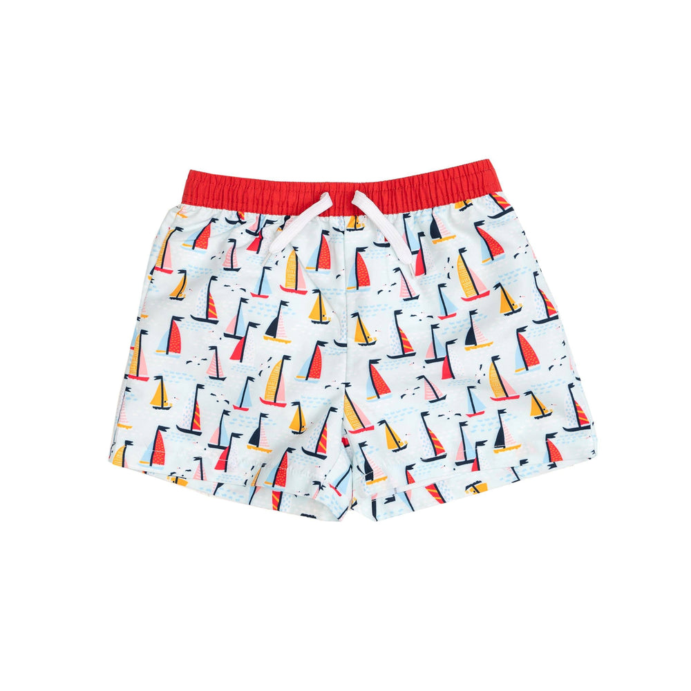 Sailboat Boy Shorts Swimsuit