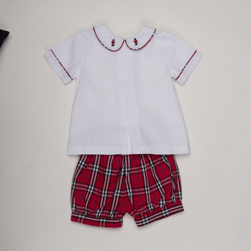 Hendrix Red Plaid Toy Soldier Short Set