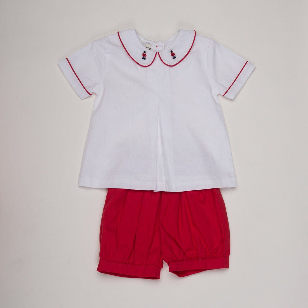 Austin Red Toy Soldier Short Set