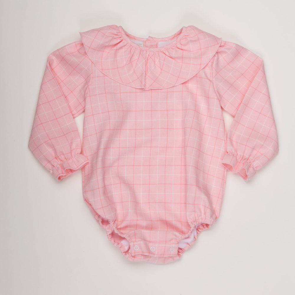 Louise Pink Check Bubble