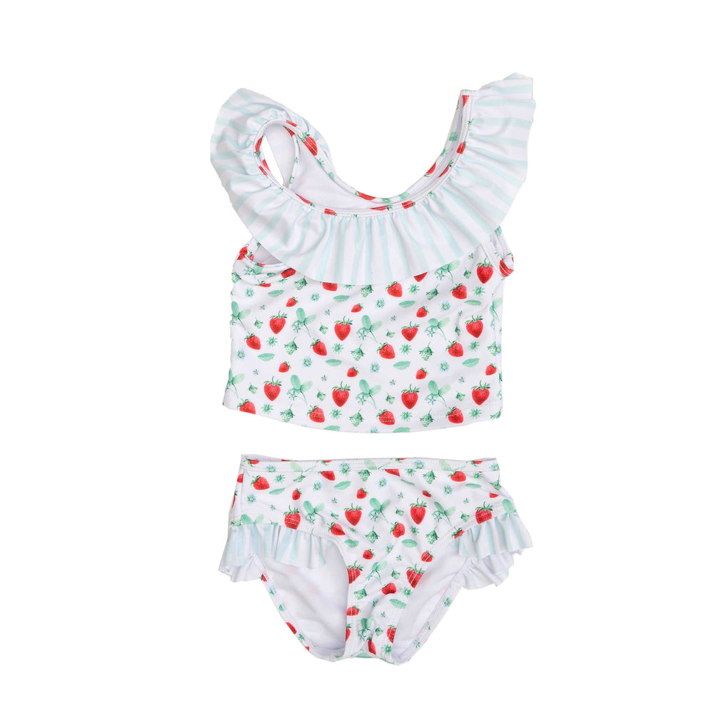 Seacrest Strawberry Two Piece Swimsuit