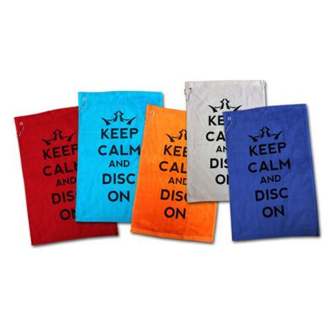 Keep Calm and Disc On Towel