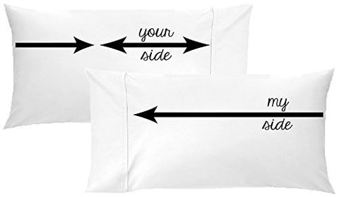 My Side, Your Side Couples Pillowcase Set