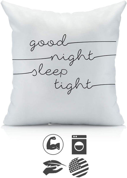 Good Night Sleep Tight Pillowcase in Multiple Sizes