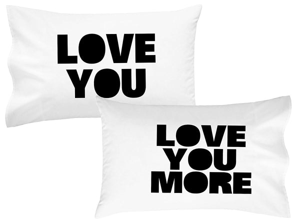 Love You Love You More Pillow Cases (2 Top Quality 20x30