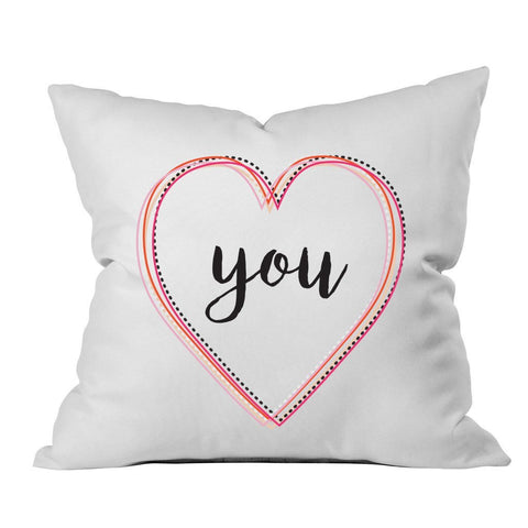 You Multicolor 18x18 Inch Throw Pillow Cover - Couples Gifts For Her - Love Decor Girlfriend Gifts Birthday Present I Love You Gifts
