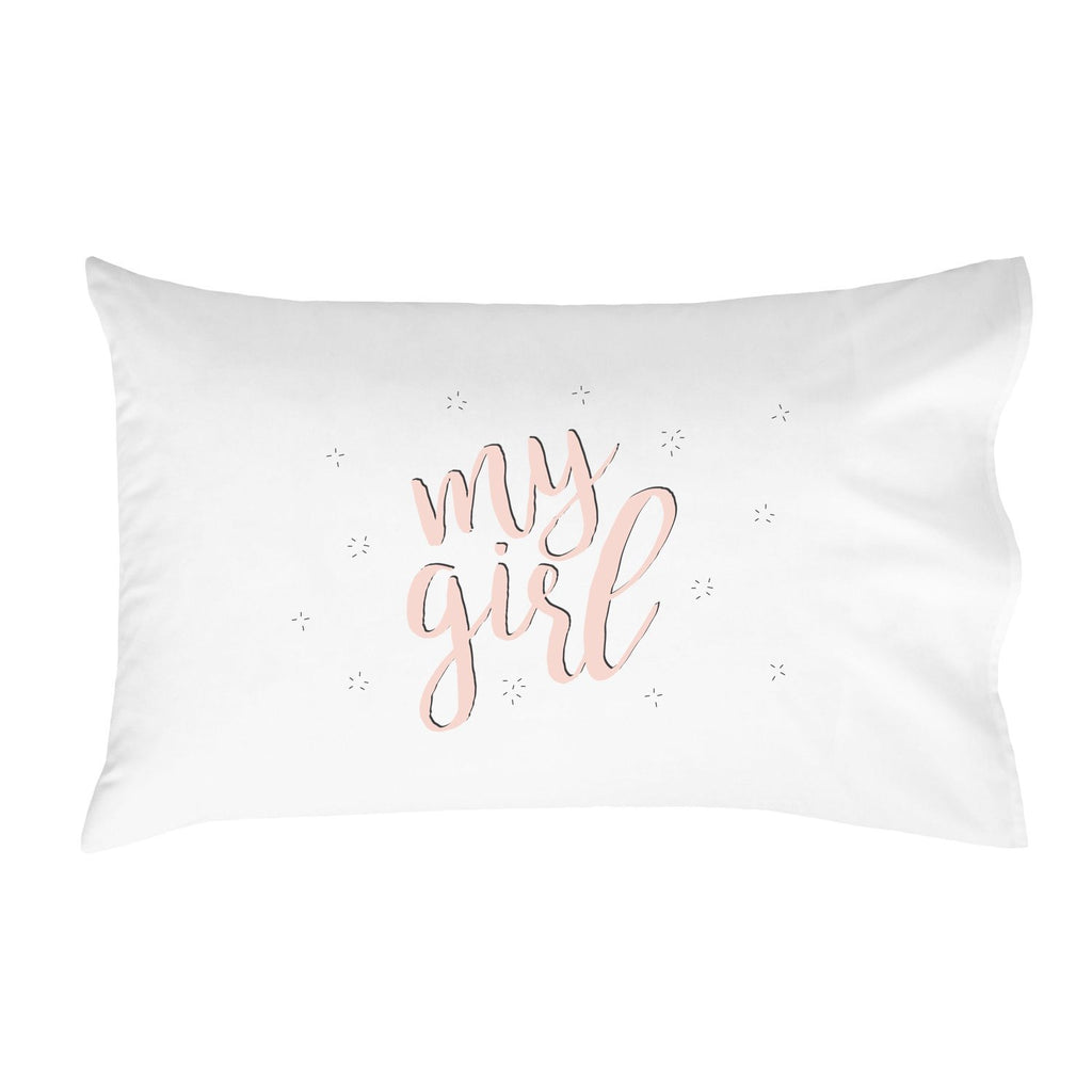 My Girl Pillowcase (One 20x30 Standard/Queen Size Pillow Case) Kids Room Decor Birthday Presents Girlfriend Gifts