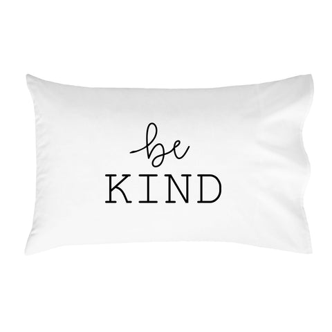be Kind Pillowcases - Standard Size Pillowcase(1 20x30 inch, Black) Graduation Gifts College Fun Pillowcases
