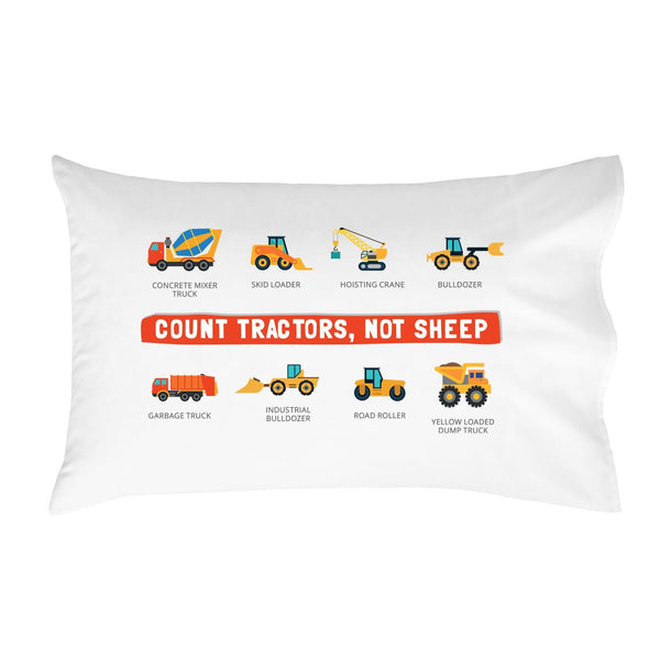 Oh, Susannah Count Tractors, Not Sheep Pillowcase (One 20x30 Standard/Queen Size Pillow Case) Kids Room Decor Birthday Presents