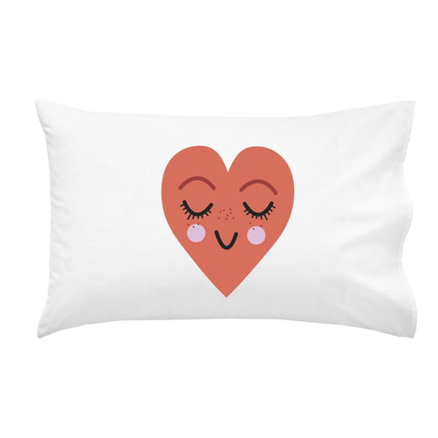 "Smiling Heart Pillowcase (One 20x30"" Standard/Queen Size Pillow Case) Wedding Anniversary Gifts Birthday Presents"
