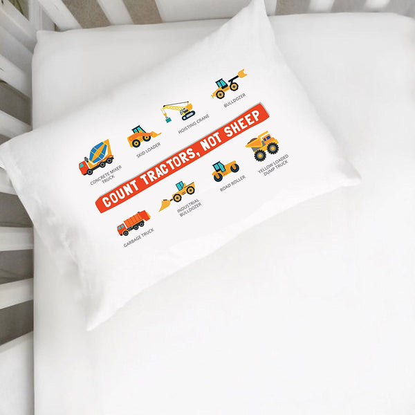 Count Tractors, Not Sheep Pillowcase (Multiple Sizes)