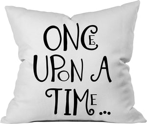 """Once  Upon A Time"" Throw Pillow Cover"