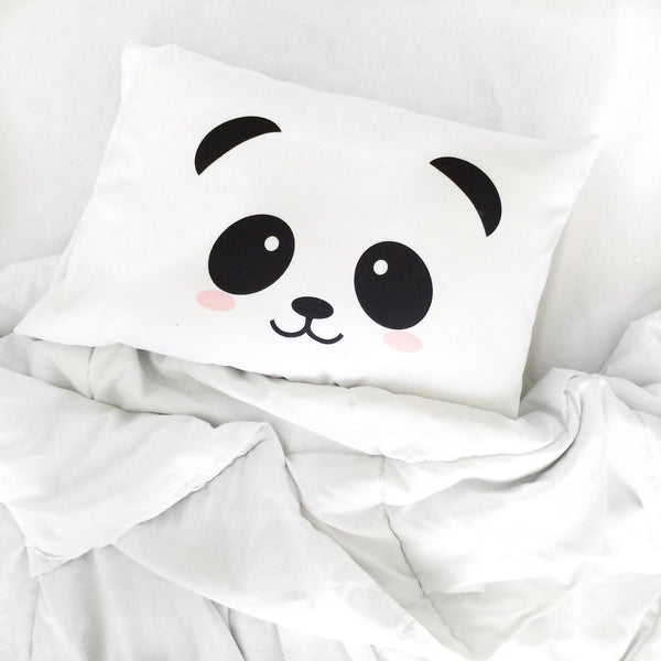Panda Face Standard Size Pillowcase